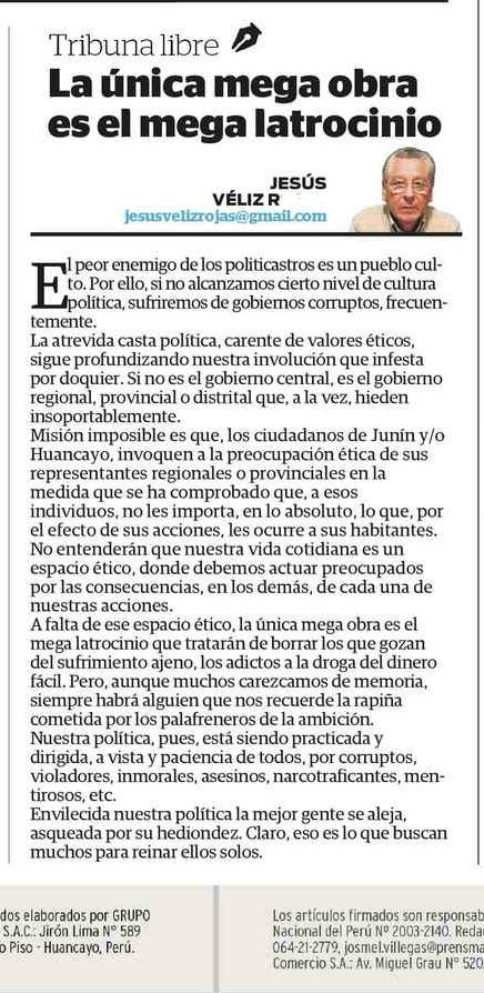 MEGA LATROCINIO.- Correo 09-01-2015